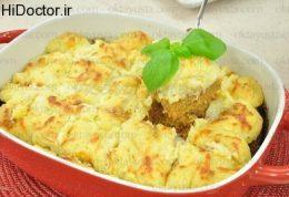 کوفته با پوره سیب زمینی و پنیر