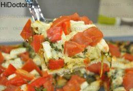 پیتزای پنیر و اسفناج به سبک ترکیه