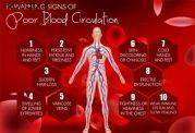 10 علائم هشدار دهنده گردش خون ضعیف
