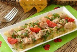 سالاد تن ماهی با بادمجان کبابی