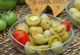 نوع متفاوتی از ترشی گوجه فرنگی سبز