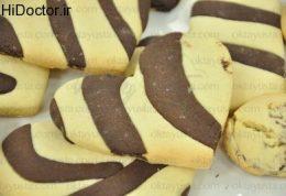 شیرینی دو رنگ  با سبک ترکیه