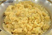 حلوای آرد سمولینا و پنیر