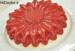 دسر  گل با رویه تمشک