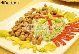 کوفته های کوچک با سبزی و برنج
