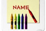 رنگ مربوط به حروف نام شما