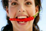 خوردن مکرر از غذاهای فلفل دار