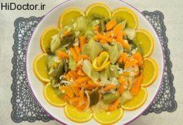خوراکی از تره فرنگی و پرتقال