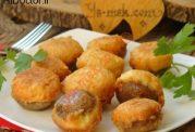 خوراک قارچ با پیازهای کوچک