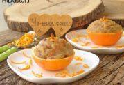 حلوای آرد سمولینا و پرتقال