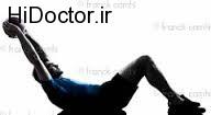 ورزش دادن عضلات شکم به صورت تصویری
