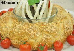 نان سیمیت  به شکل گیسو