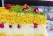 کیک زردچوبه