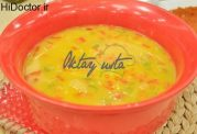 سوپ مرغ و زردچوبه