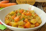 خوراک کدو و هویج با روغن زیتون