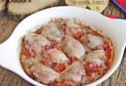 کوفته با سس گوجه فرنگی و پنیر پیتزا