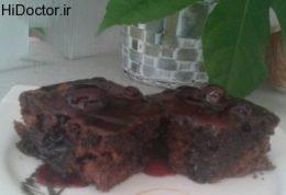 کیک خیس با مربای آلبالو