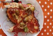 پیتزای گل کلم بدون خمیر و رژیمی
