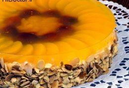 چیز کیک با ژله آناناس