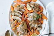خوراکی خوشمزه با مرغ با هویج