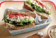 ساندویچ سریع و خوشمزه و کم کالری