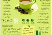 اینفوگرافی و خواص فوق العاده چای سبز