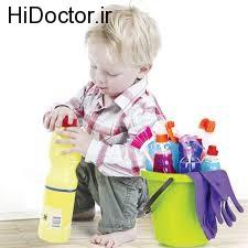 مسمومیت ناشی از مواد شوینده در سنین پایین