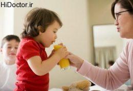 مصرف آبمیوه های طبیعی برای خردسالان