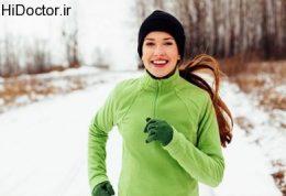 دویدن در هوای برفی
