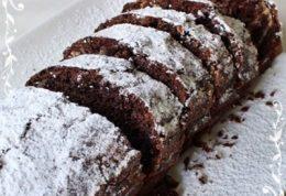 کیک شکلاتی مستطیل شکل