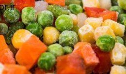 مراقبت از سبزیجات به صورت فریز شده