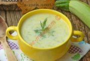 سوپ شیر و کدوسبز