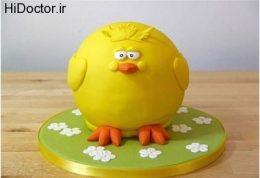 کیکی شبیه جوجه