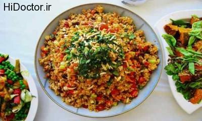 برنجی خوشمزه با آجیل