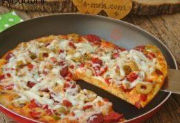 بدون فر روی گاز پیتزا درست کنید ( پیتزای ترکیه)