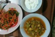 چگونه از لوبیا سبز خوراک رژیمی درست کنیم