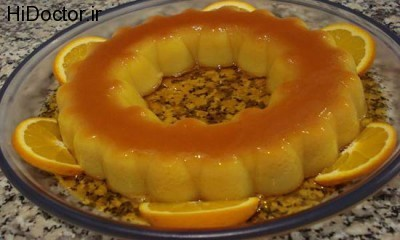 پودینگ کاراملی پرتقالی