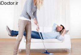 عدم رضایت از زندگی با انجام همه امور منزل