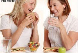 دریافت مایعات در کنار غذا