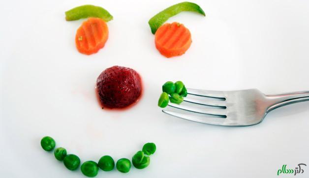 تغییر روحیه با میوه و سبزیجات