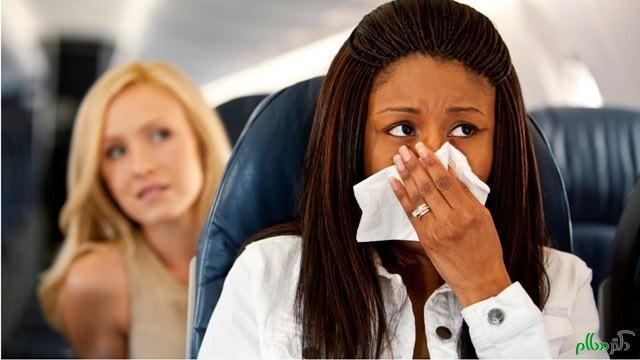 چگونه از حالت تهوع در هواپیما جلوگیری کنیم