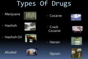 گونه های مختلف مواد مخدر