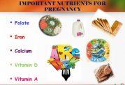 مهمترین ویتامین ها برای یک زن باردار