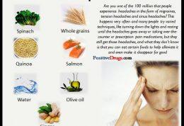 خوراکی های درمان کننده میگرن
