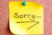 راهنمای عذرخواهی کردن