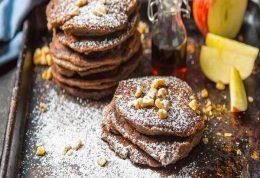 طرز تهیه پنکیک شکلات و دارچین