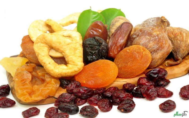آسیب های میوه های خشک برای دندان ها