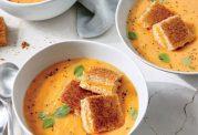 سوپ میکس شده با گوجه
