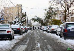 بارش برف پایتخت را سفید پوش کرد