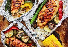 روش تهیه خوراک مرغ رژیمی با فویل